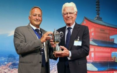 Welshman Aled Griffiths travelled to Japan to receive the International Egg Person of the Year accolade